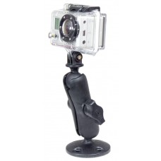 Composite Flat Surface Mount with  GoPro Hero Adapter